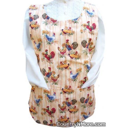 country rooster hen cobbler apron