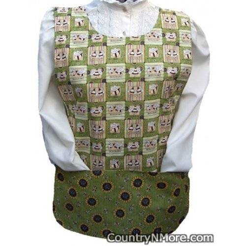 honey bees sunflowers cobbler apron