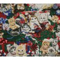 christmas kitties puppies cobbler apron