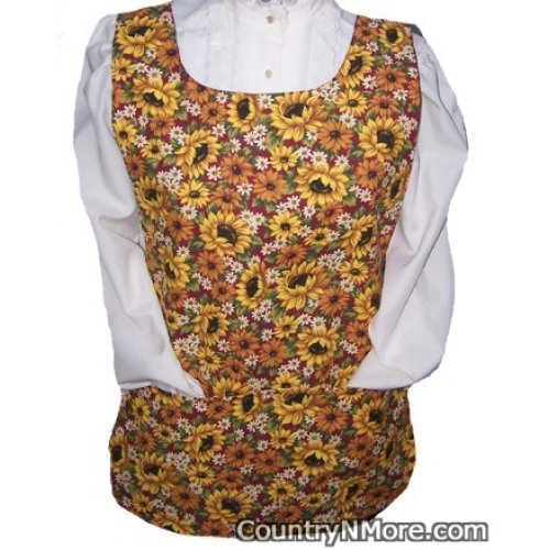 sunflower floral cobbler apron