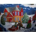 vintage winter christmas card cobbler apron
