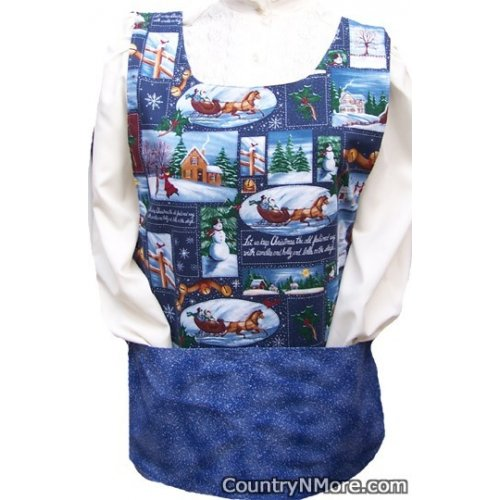 keep christmas old fashioned way cobbler apron