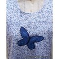 vintage applique butterfly apron plus size