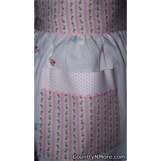 vintage pillowcase waist apron