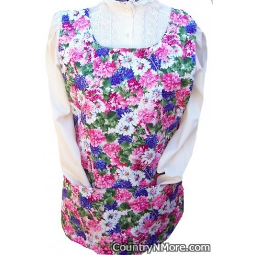 colorful flower butterfly cobbler apron