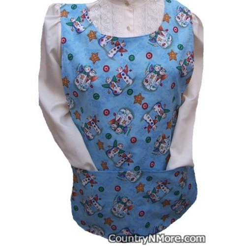 christmas families snowman seaside holiday cobbler apron
