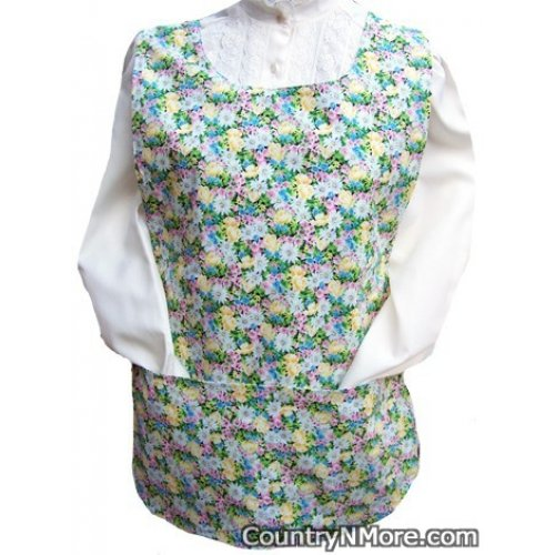 wildflowers colorful butterfly cobbler apron