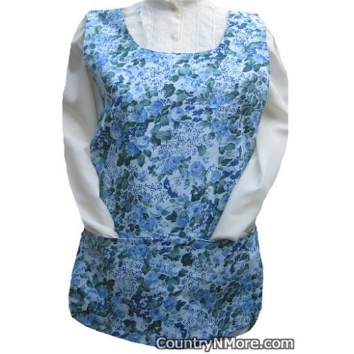 beautiful blue rose cobbler apron