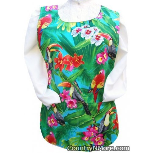 tropical birds cobbler apron