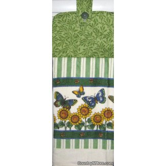 butterfly garden oven door towel 1254