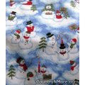penguin snowmen holiday winter cobbler apron lg xl