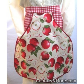 vintage country apple 2 clothespin waist apron