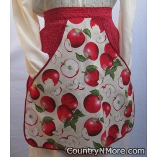 vintage country apple waist clothespin apron