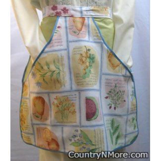 vintage fresh fruit clothespin waist apron