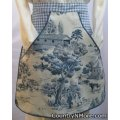 vintage toile country clothespin waist apron