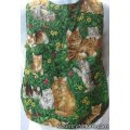 cat family flower toddler cobbler apron