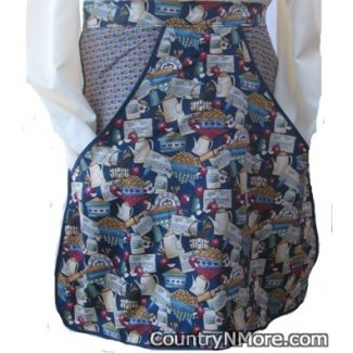 vintage country apple kitchen clothespin waist apron