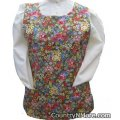 beautiful wild flower cobbler apron