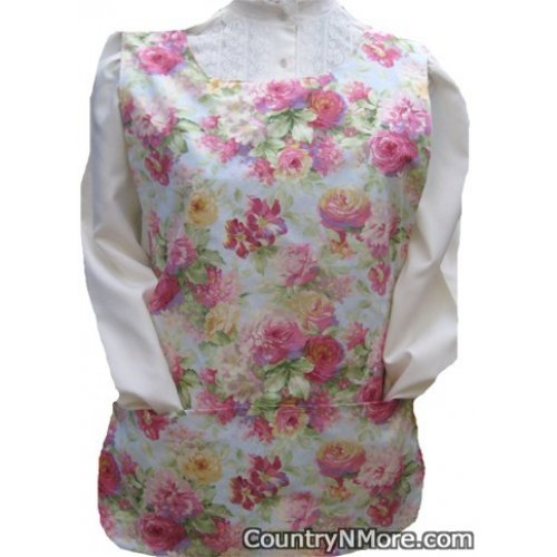 gorgeous rose floral cobbler apron