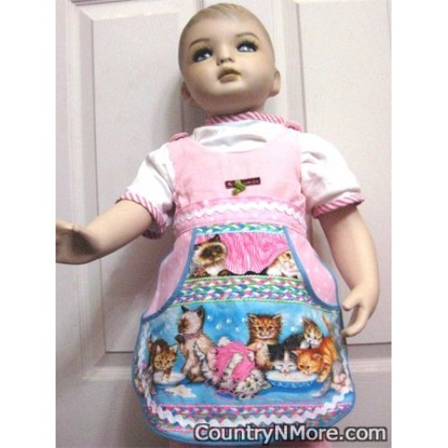 sweet kittens girls waist apron med