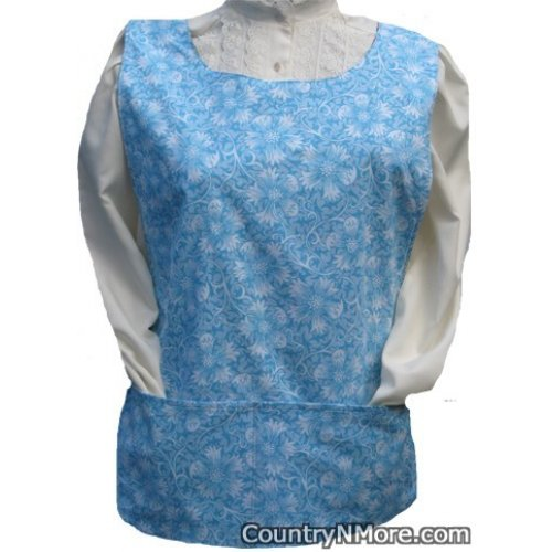 blue flower cobbler apron