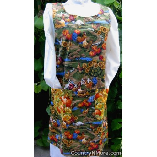 vintage life farm long country apron large