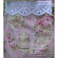 garden rose tea party canning apron large