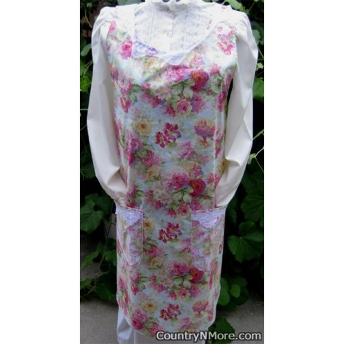 gorgeous rose vintage canning apron