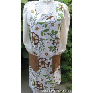 vintage retro flower canning apron