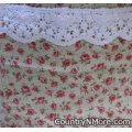 vintage rose canning apron large