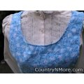 white floral blue canning apron medium