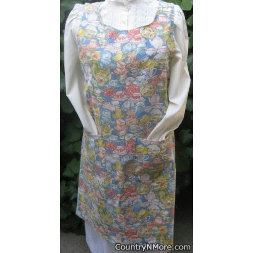 coffee tea vintage canning apron