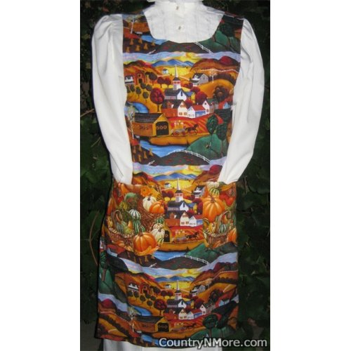country fall vintage canning apron medium