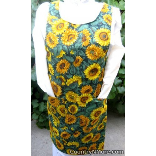gorgeous sunflower canning apron small
