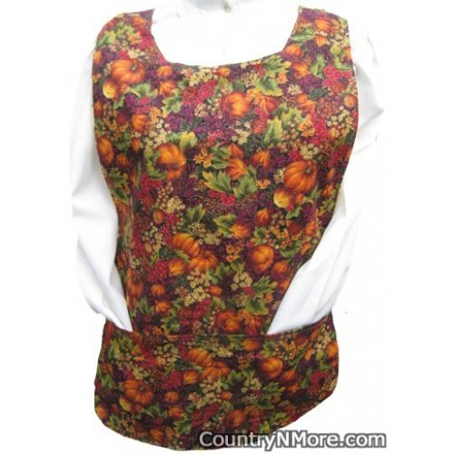 colorful fall cobbler apron