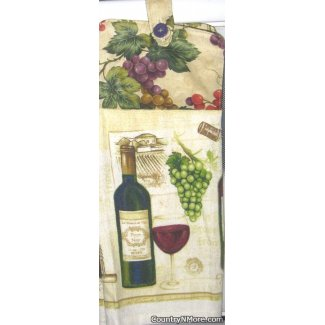 glass wine oven door towel