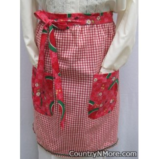 country watermelon vintage waist apron