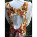 fall leaves flowers canning apron large
