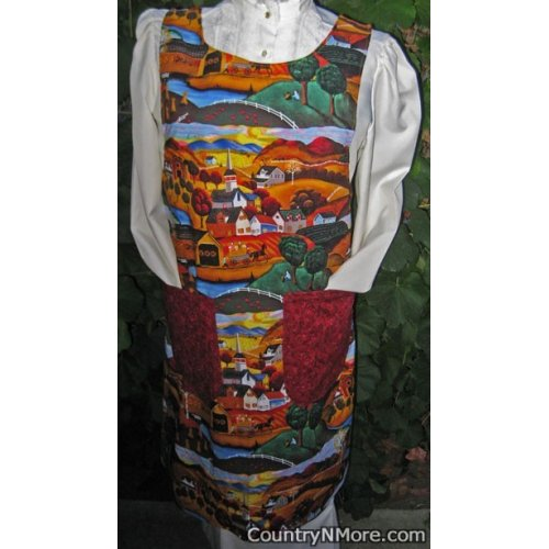 fall country canning apron