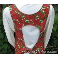 vintage poinsettia canning apron large