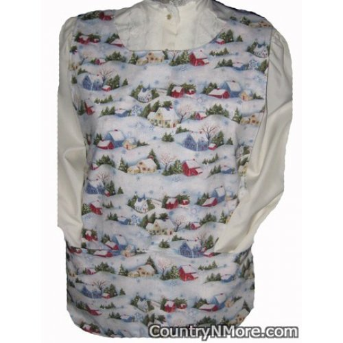 old time country christmas cobbler apron