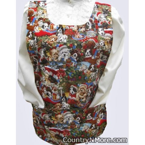 everyday holiday dogs reversible cobbler apron