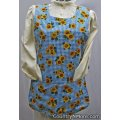 garden rose sunflower reversible cobbler apron medium