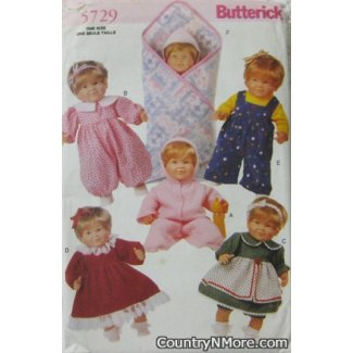 butterwick doll clothes bunting sewing pattern