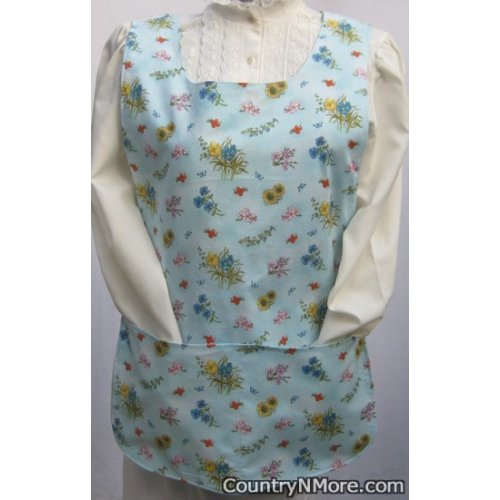spring floral butterfly reversible cobbler apron lg xl