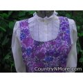gorgeous purple floral vintage canning apron