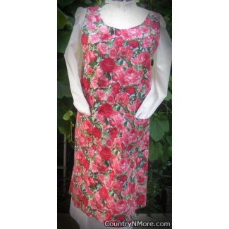 beautiful rose vintage canning apron