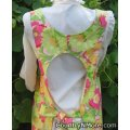 gorgeous floral pink vintage canning apron