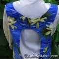 tropical flowers vintage canning apron
