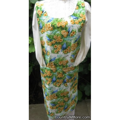 mountain bluebirds vintage canning apron